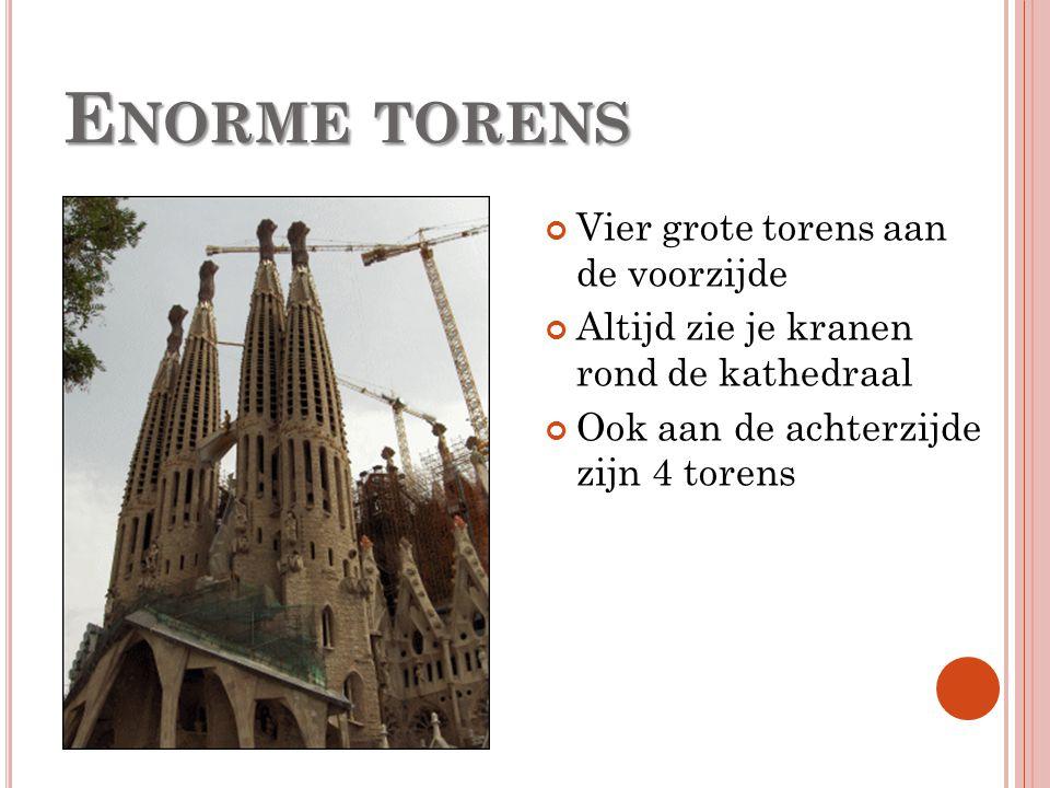 Enorme torens Vier grote torens aan de voorzijde