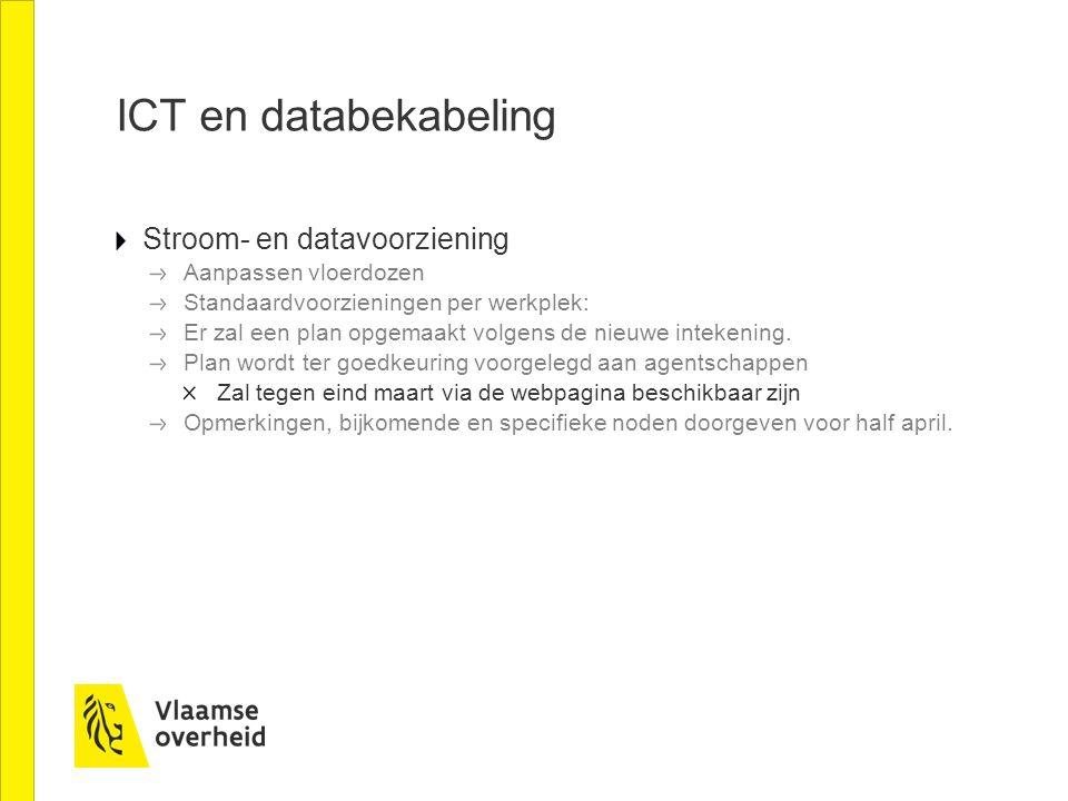ICT en databekabeling Stroom- en datavoorziening Aanpassen vloerdozen