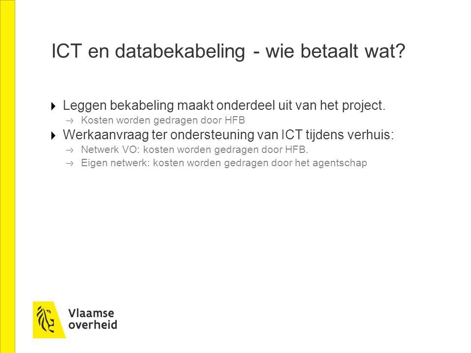 ICT en databekabeling - wie betaalt wat