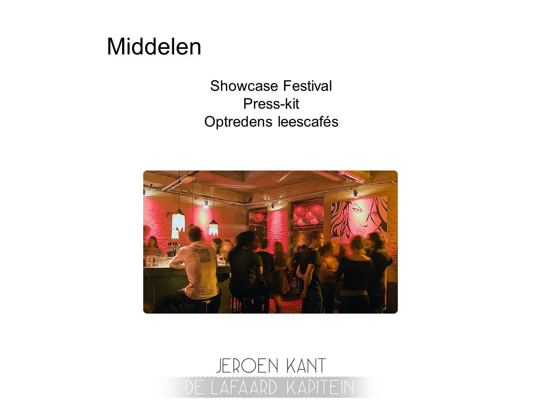 Showcase Festival Press-kit Optredens leescafés
