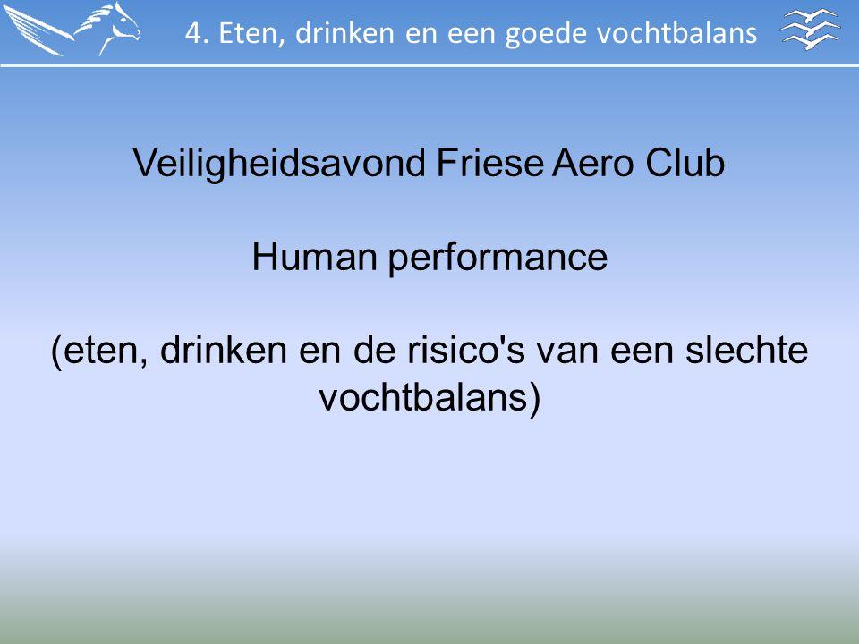 Veiligheidsavond Friese Aero Club Human performance