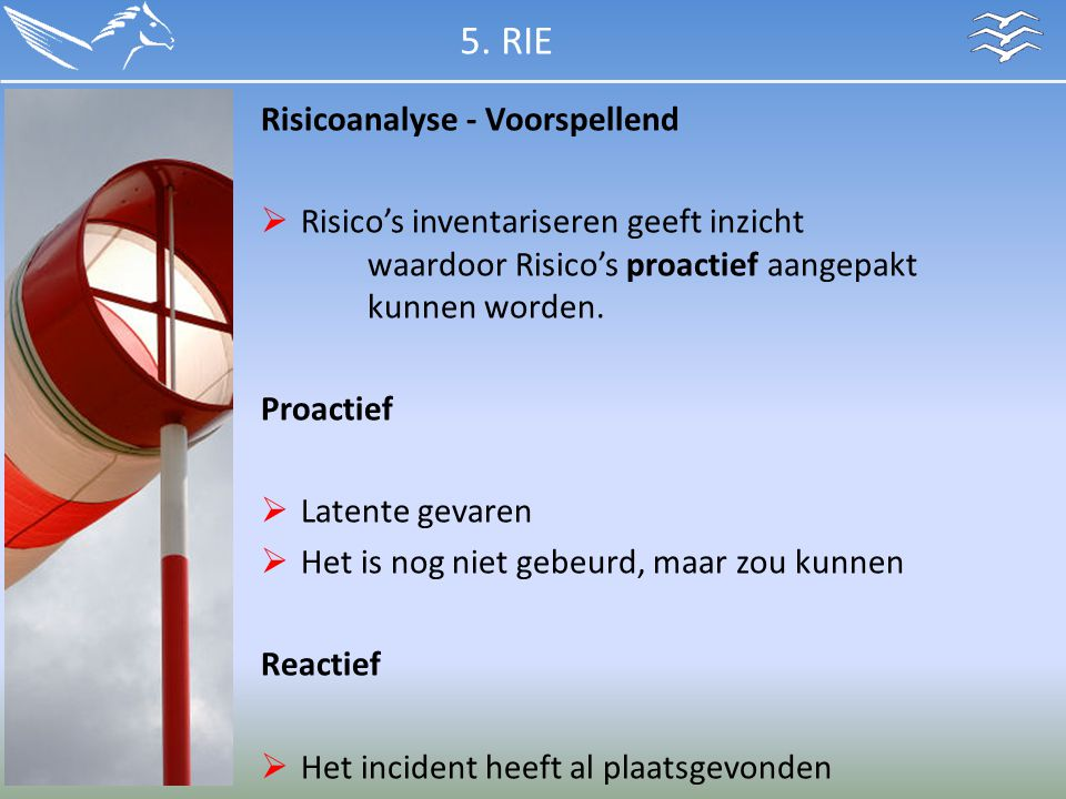 5. RIE Risicoanalyse - Voorspellend