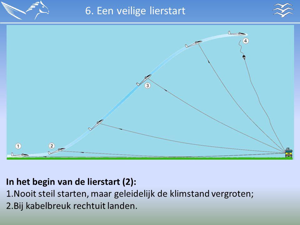 6. Een veilige lierstart In het begin van de lierstart (2):