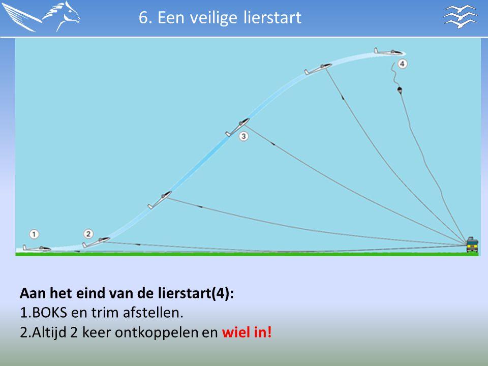 6. Een veilige lierstart Aan het eind van de lierstart(4):