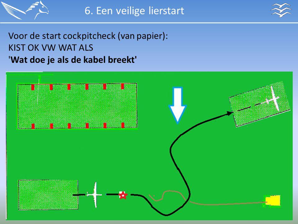6. Een veilige lierstart Voor de start cockpitcheck (van papier):