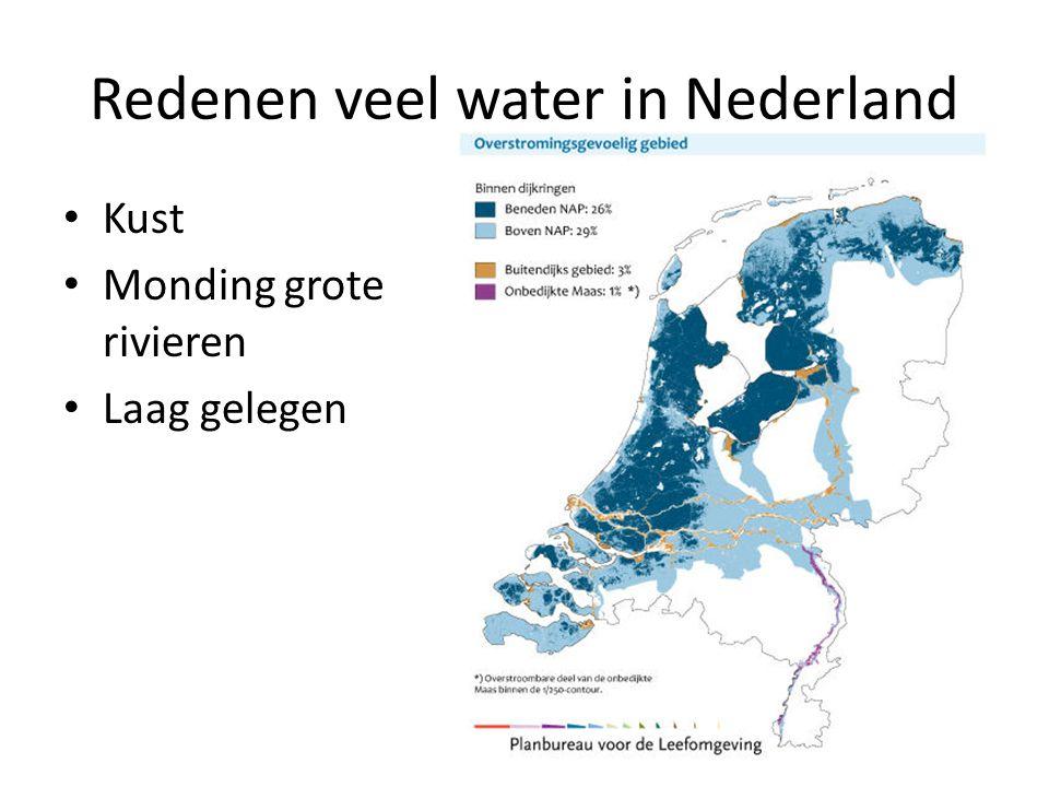 Redenen veel water in Nederland