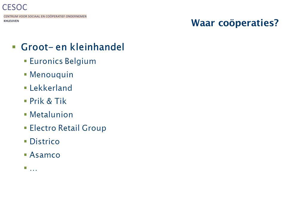 Waar coöperaties Groot- en kleinhandel Euronics Belgium Menouquin