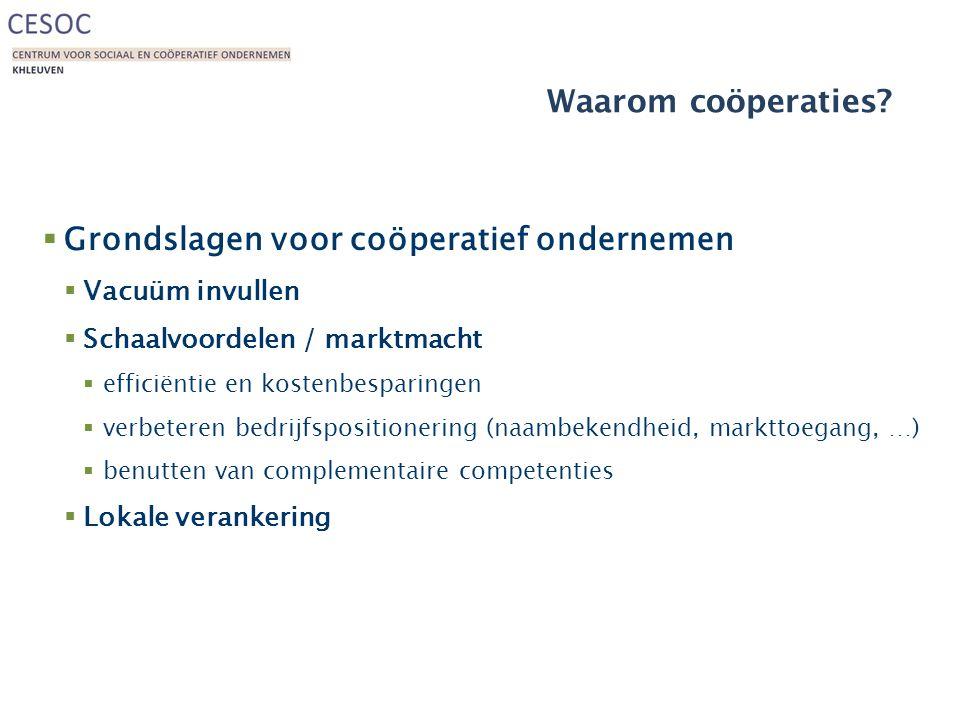 Grondslagen voor coöperatief ondernemen