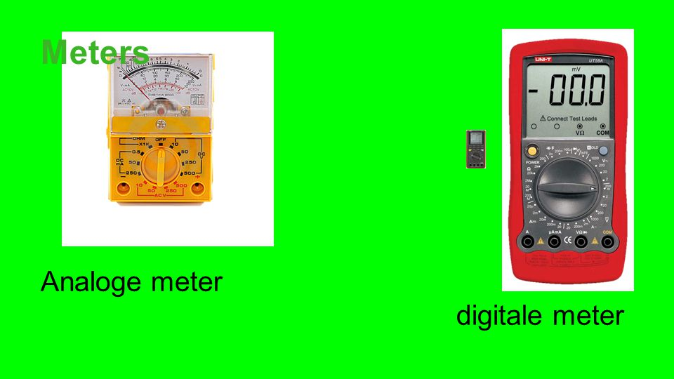 Meters Analoge meter digitale meter.