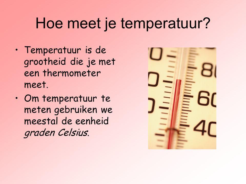 Hoe meet je temperatuur