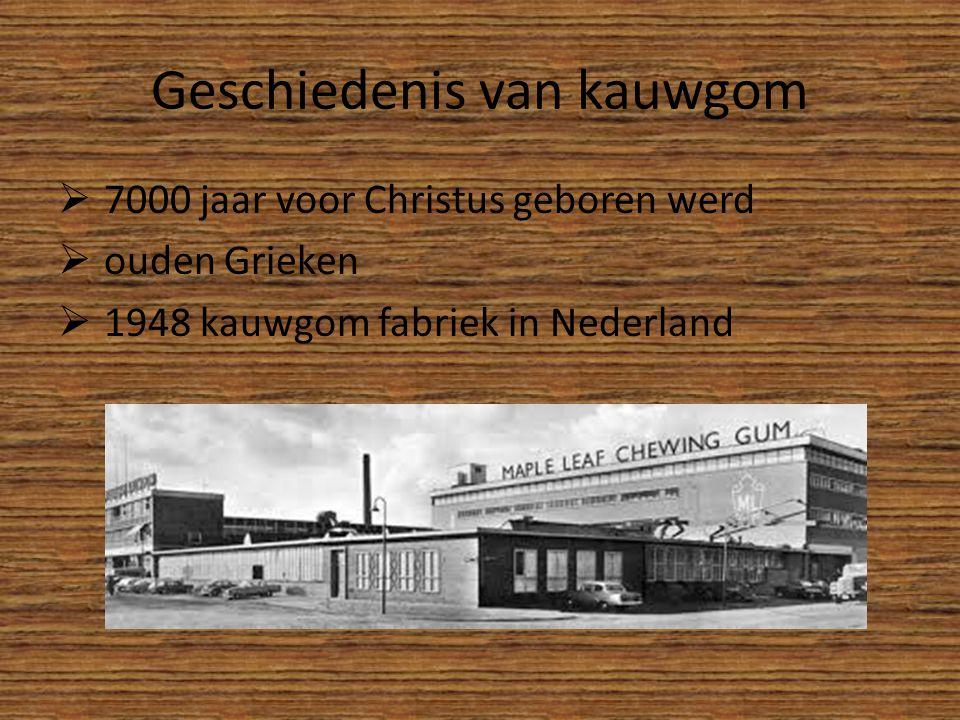Geschiedenis van kauwgom