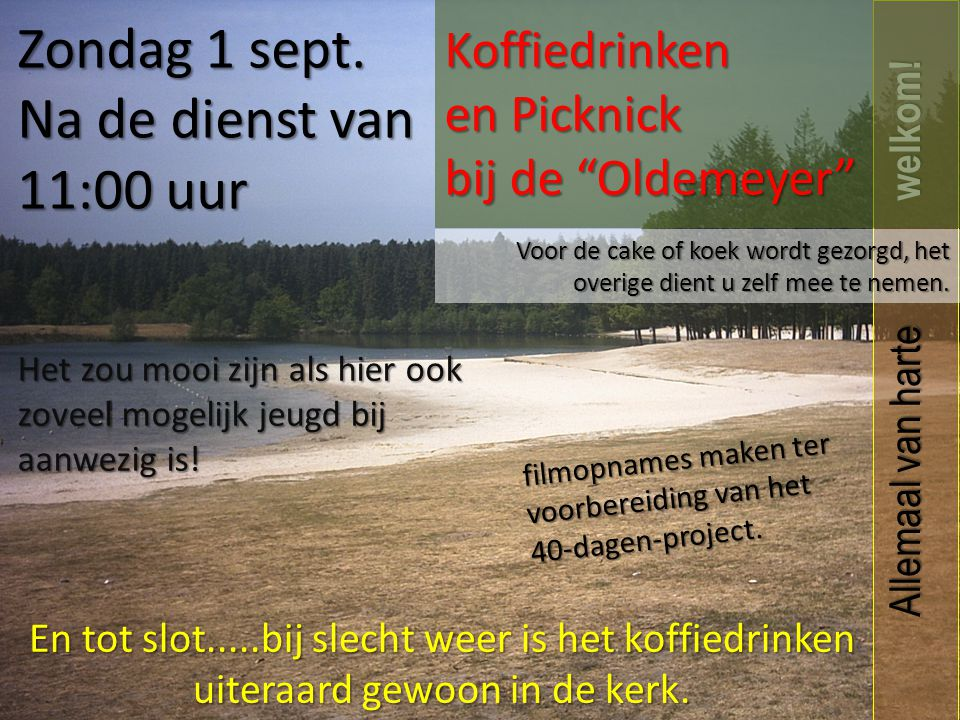 Koffiedrinken en Picknick bij de Oldemeyer