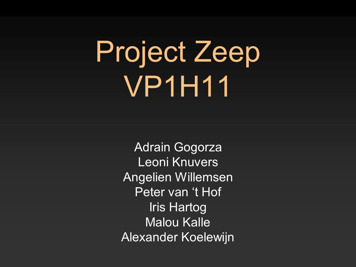 Project Zeep VP1H11 Adrain Gogorza Leoni Knuvers Angelien Willemsen