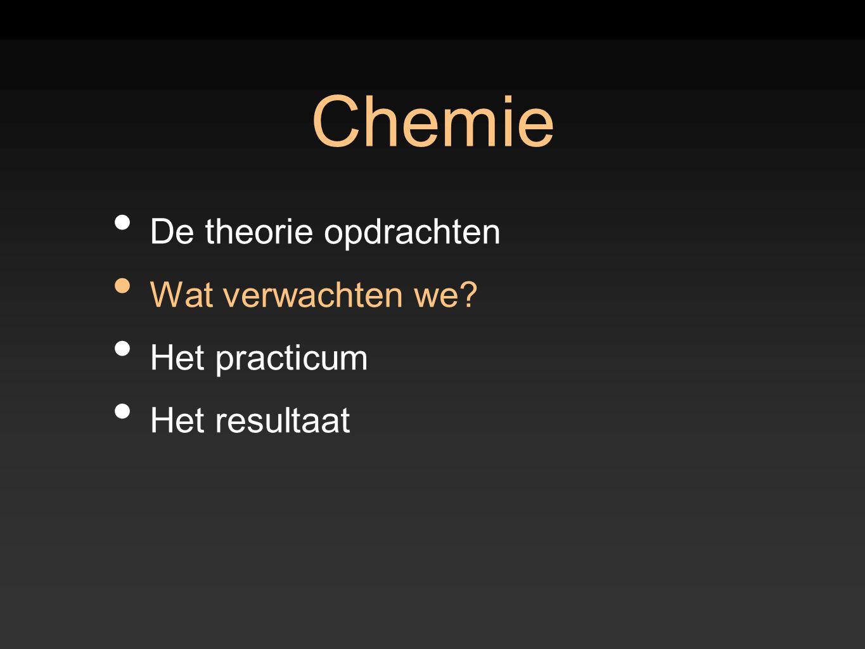 Chemie De theorie opdrachten Wat verwachten we Het practicum