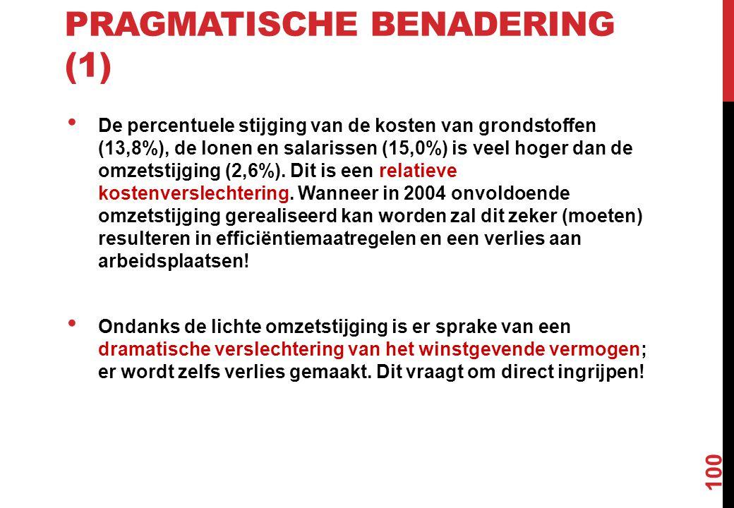 Pragmatische benadering (1)