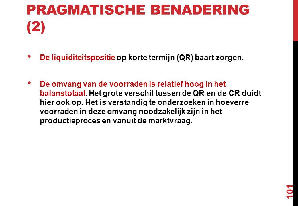 Pragmatische benadering (2)