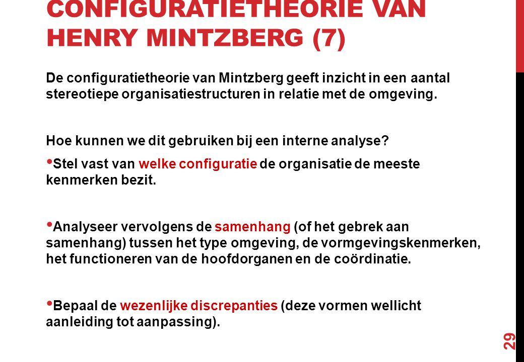 Configuratietheorie van Henry Mintzberg (7)