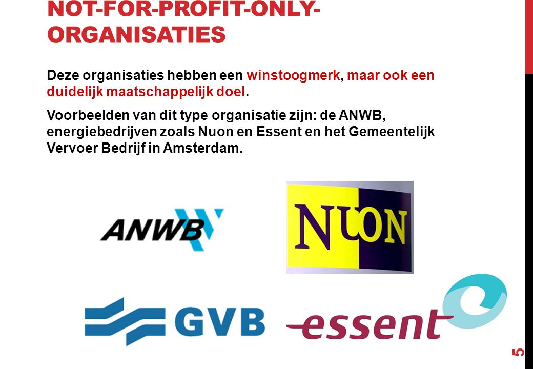 Not-for-profit-only-organisaties