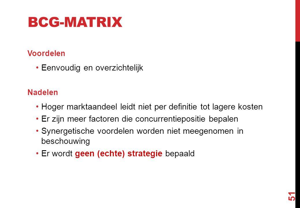 BCG-matrix Eenvoudig en overzichtelijk