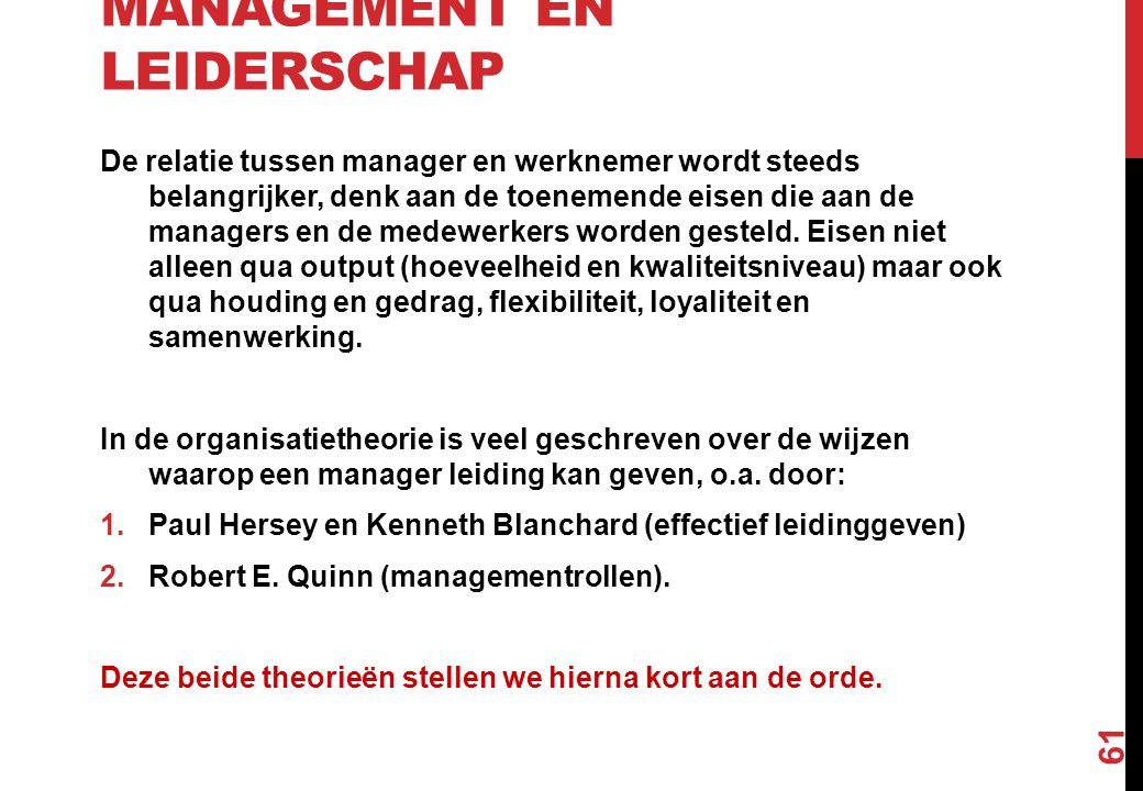 Management en leiderschap