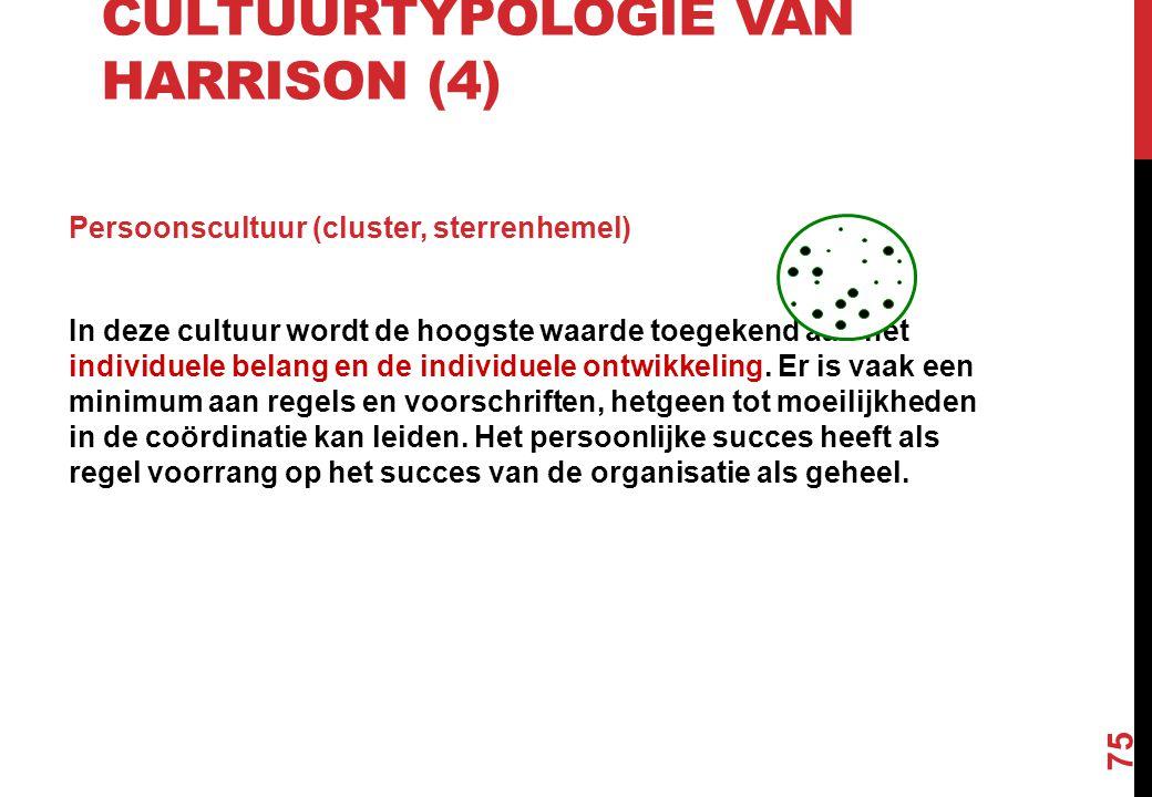 Cultuurtypologie van Harrison (4)