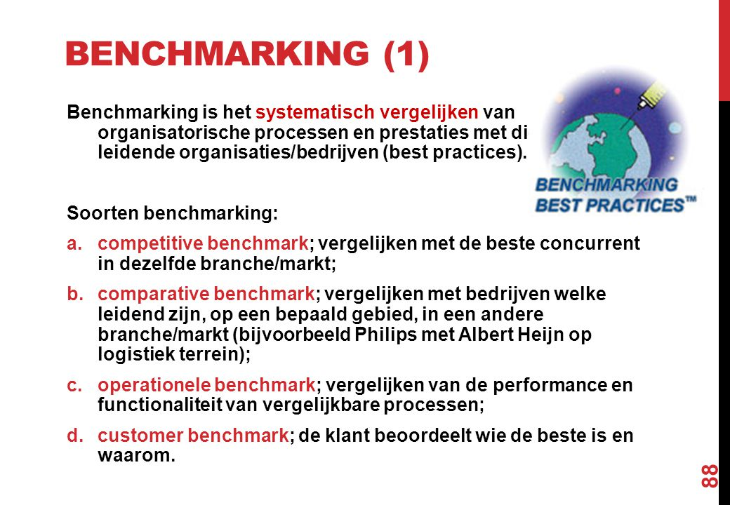 Benchmarking (1)