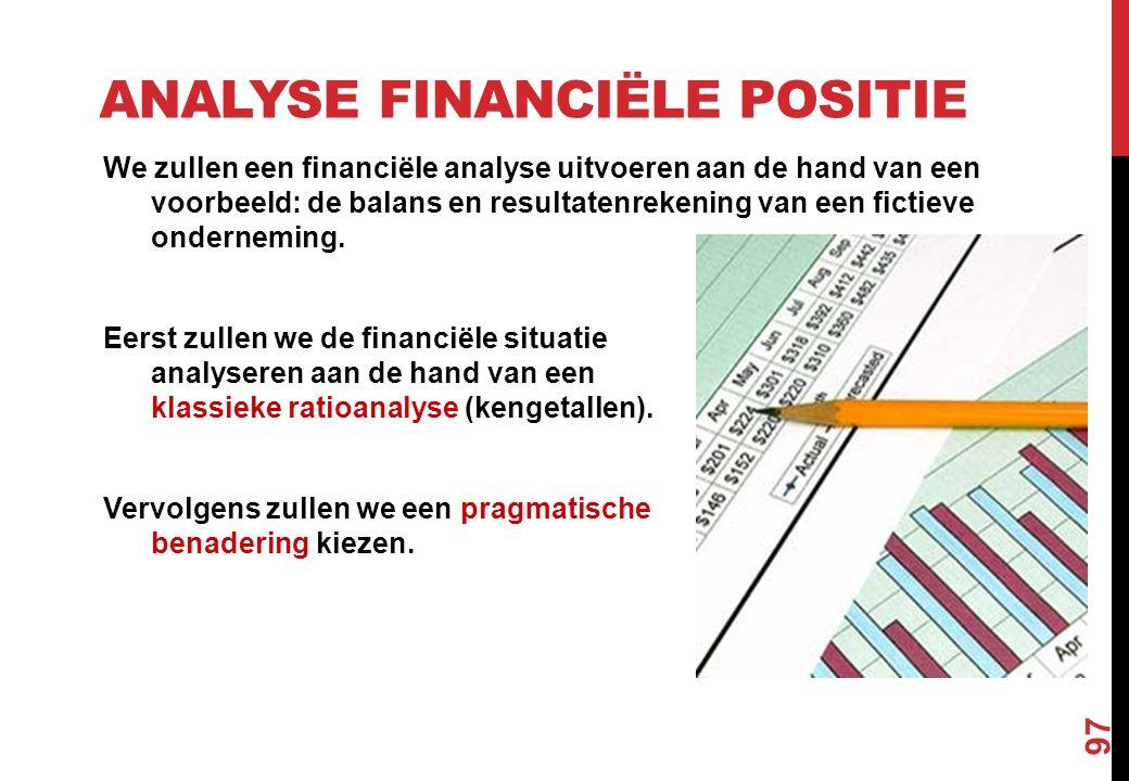 Analyse financiële positie