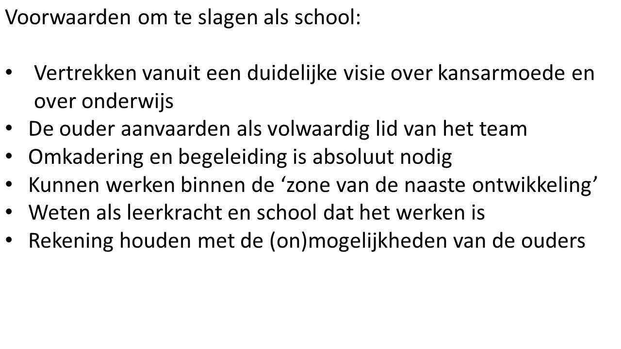 Voorwaarden om te slagen als school: