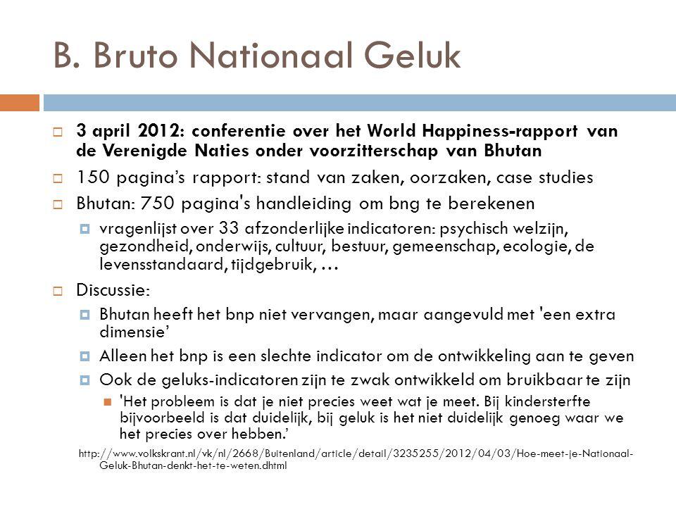 B. Bruto Nationaal Geluk