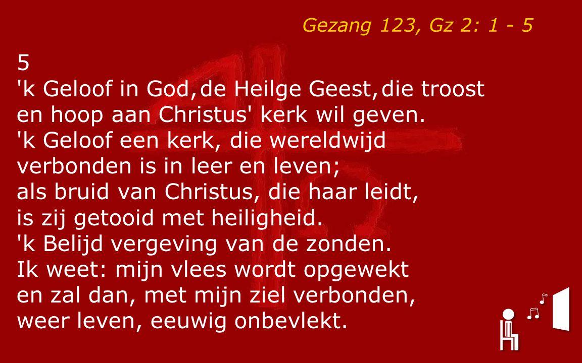 k Geloof in God, de Heilge Geest, die troost