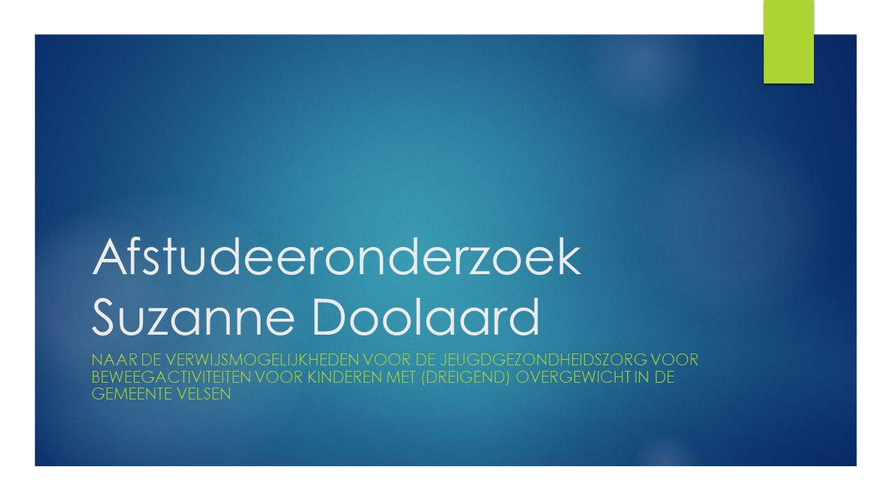 Afstudeeronderzoek Suzanne Doolaard