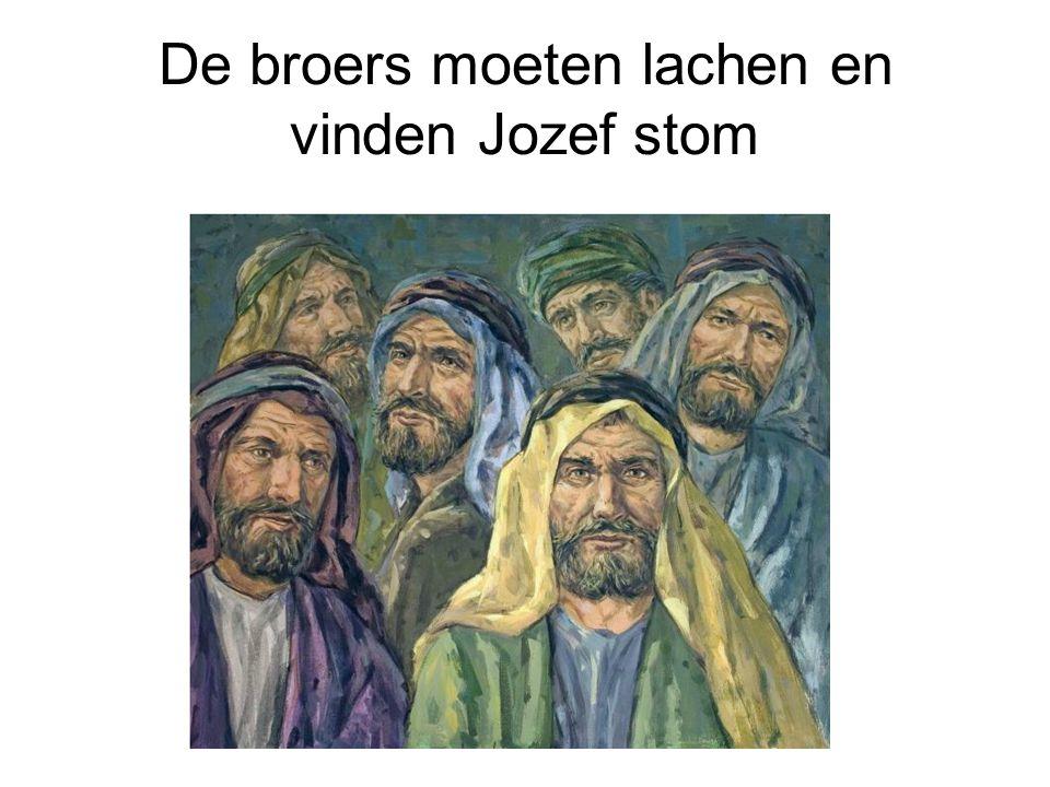 De broers moeten lachen en vinden Jozef stom
