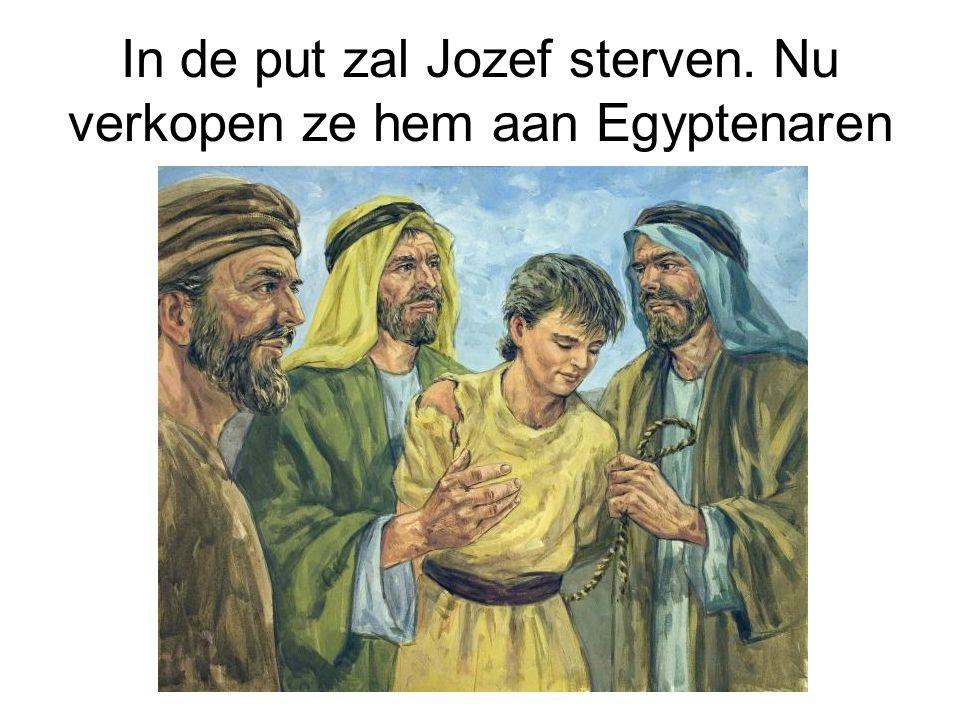 In de put zal Jozef sterven. Nu verkopen ze hem aan Egyptenaren