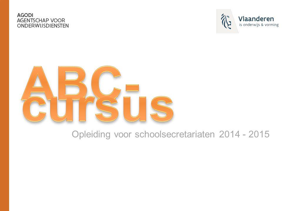 Opleiding voor schoolsecretariaten 2014 - 2015