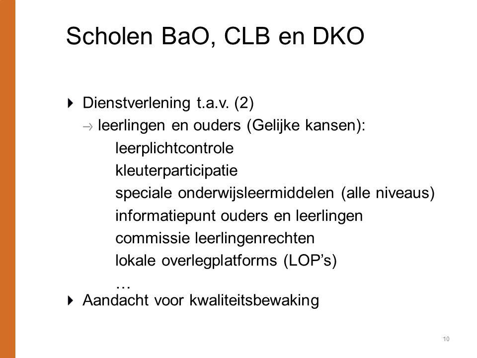 Scholen BaO, CLB en DKO Dienstverlening t.a.v. (2)
