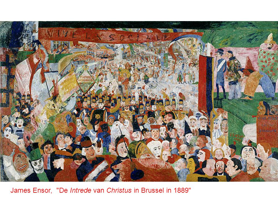 James Ensor, De Intrede van Christus in Brussel in 1889