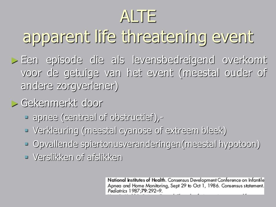 ALTE apparent life threatening event