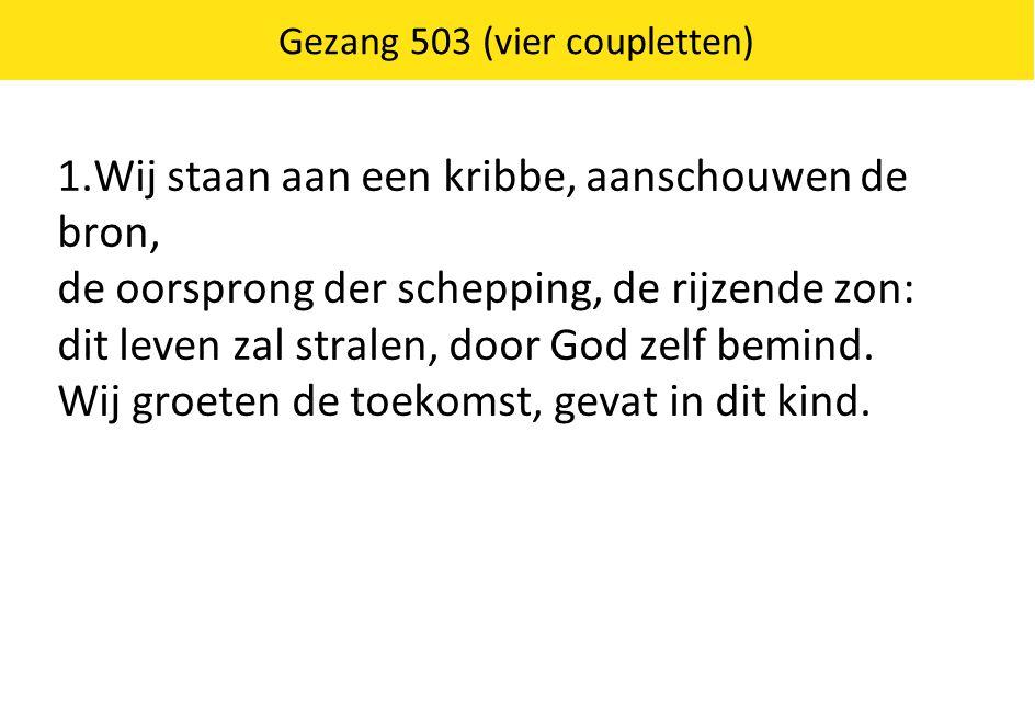 Gezang 503 (vier coupletten)