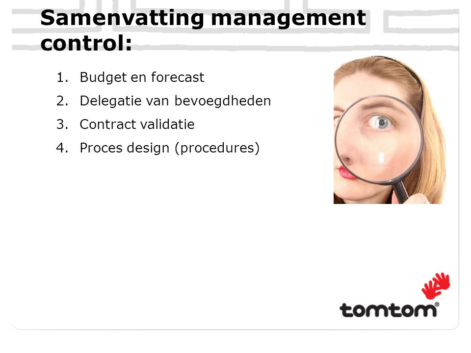 Samenvatting management control: