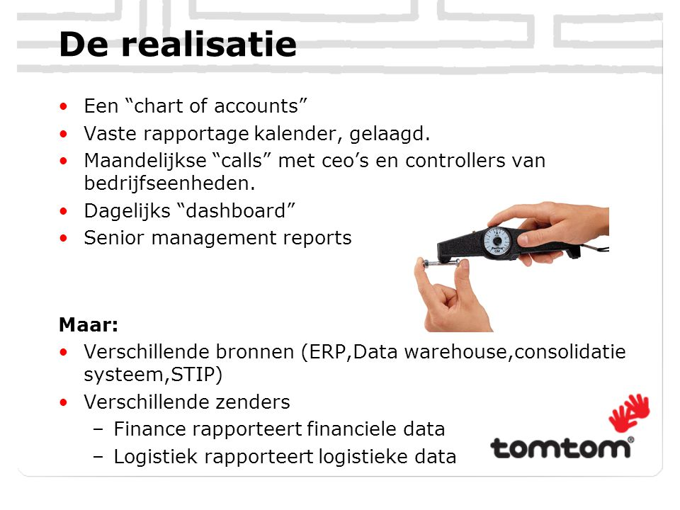 De realisatie Een chart of accounts
