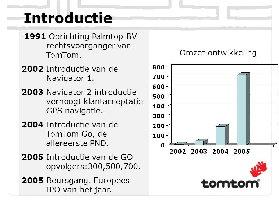 Introductie 1991 Oprichting Palmtop BV rechtsvoorganger van TomTom.