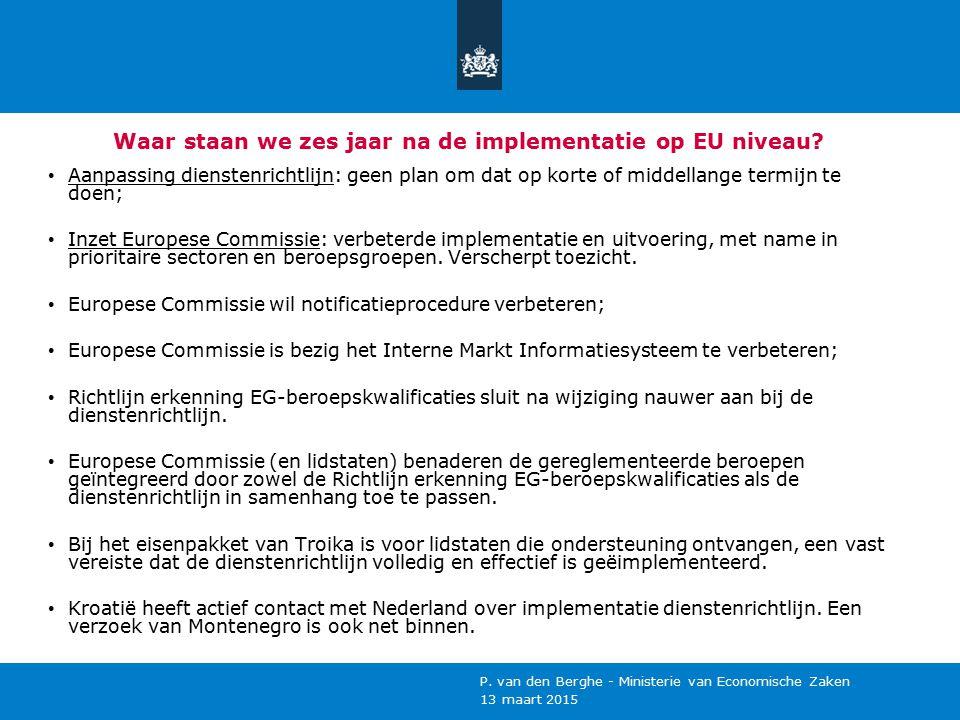 Waar staan we zes jaar na de implementatie op EU niveau