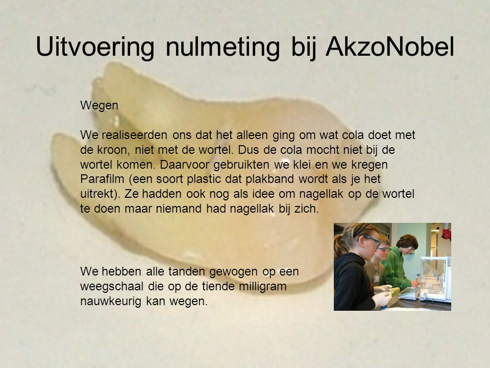 Uitvoering nulmeting bij AkzoNobel