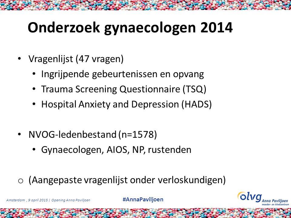Onderzoek gynaecologen 2014