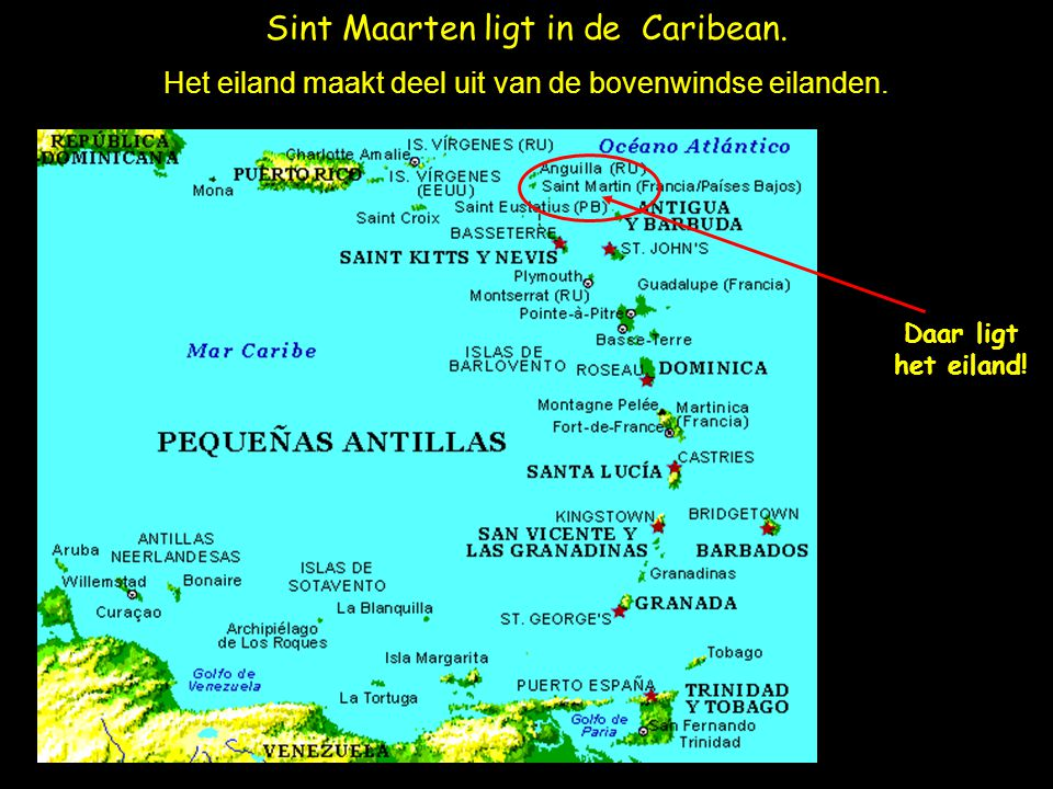 Sint Maarten ligt in de Caribean.