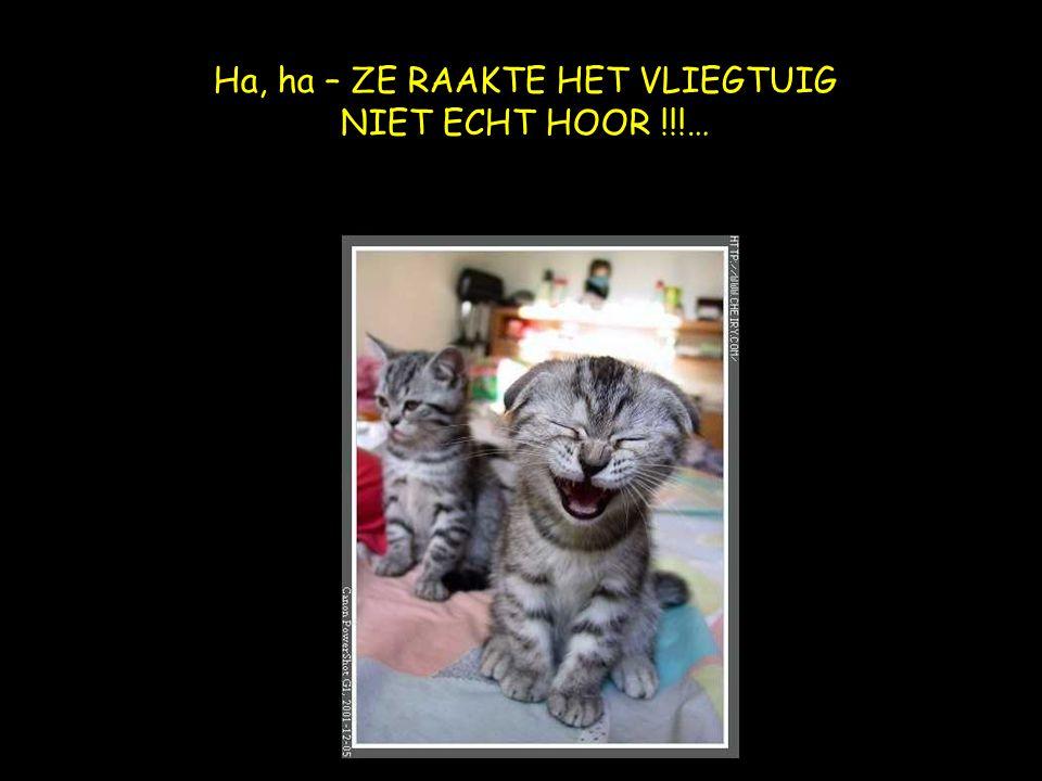 Ha, ha – ZE RAAKTE HET VLIEGTUIG NIET ECHT HOOR !!!…