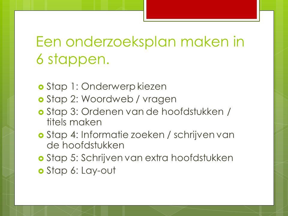 Een onderzoeksplan maken in 6 stappen.