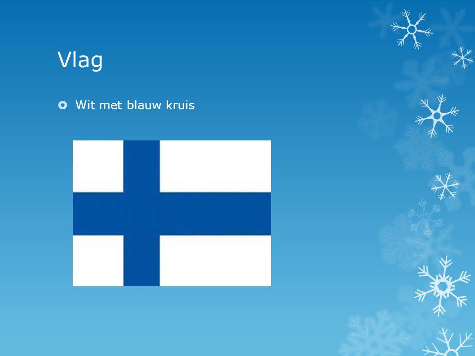 Vlag Wit met blauw kruis