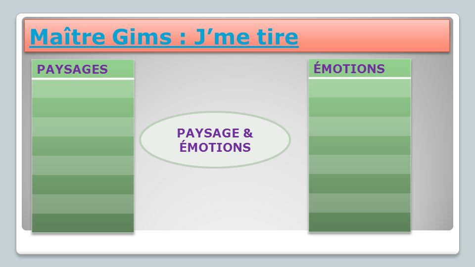 Maître Gims : J'me tire PAYSAGES ÉMOTIONS PAYSAGE & ÉMOTIONS