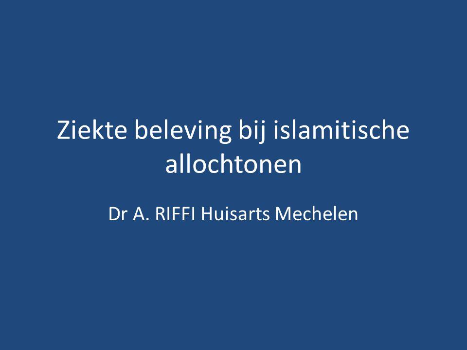 Ziekte beleving bij islamitische allochtonen